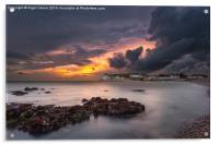Storm At Freshwater Bay, Acrylic Print