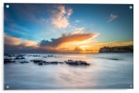 Freshwater Bay Beach Sunset, Acrylic Print