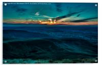 Sunset From Pen Y Fan Brecon Beacons, Acrylic Print