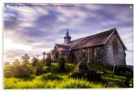 Old Llandrindod Wells Church, Acrylic Print