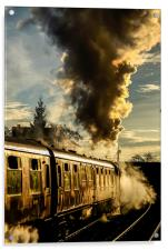 Steaming Ahead , Acrylic Print