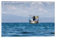 Greek fishing boat, Acrylic Print