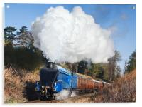 Steam train takes us back to the 1930s, Acrylic Print