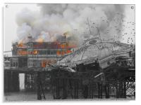 West Pier Fire, Acrylic Print