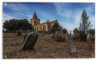 St Oswald Church Lythe, Acrylic Print