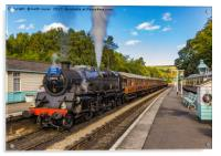 Leaving Grosmont Station, Acrylic Print