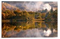 Playing Mirror. Loch Achray. Scotland, Acrylic Print
