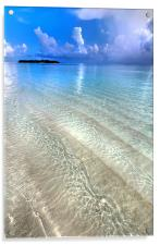 Crystal Water of the Ocean, Acrylic Print