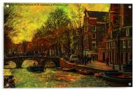 I AMsterdam. Vintage Amsterdam in Golden Light, Acrylic Print