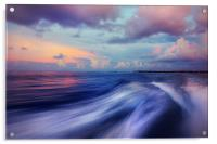 Sunset Wave. Maldives. Impressionism, Acrylic Print