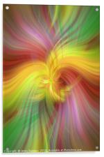 Rainbow colored abstract. Concept Alliance of sun and earth, Acrylic Print