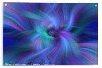 Blue Purple Green abstract. Concept  Oneness with the Universe, Acrylic Print