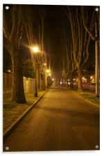 Streets of Rome at dawn, Acrylic Print