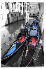 Gondolas of Venice, Acrylic Print