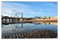 Golden Light On Blackpool, Acrylic Print