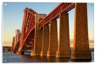 Fourth Railway Bridge at Sunset, Acrylic Print