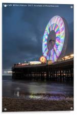 Big Wheel Blackpool, Acrylic Print
