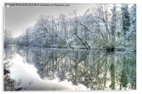 Winter Reflections at Ambergate, Derbyshire, Acrylic Print