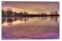Winter Sunset Color, Acrylic Print