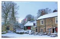 Ashover Village, Derbyshire, Acrylic Print