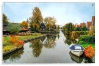Edam Waterway In Autumn , Acrylic Print