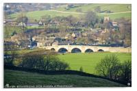 Burnsall Village and Bridge, Acrylic Print