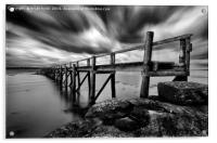 Historic Pier at Culross, Acrylic Print