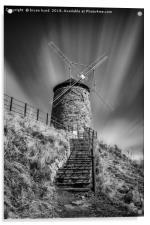 Windmill at St Monans, Acrylic Print