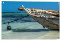 Zanzibar Dhow, Acrylic Print