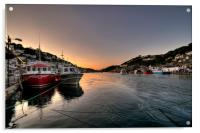 The sun goes down on the Looe River, Acrylic Print