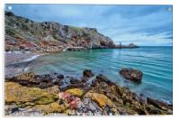 Redgate Beach and Long Quarry Point from Ansteys, Acrylic Print