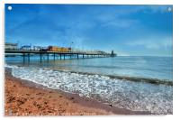 Early morning by Paignton Pier, Acrylic Print