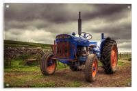 Fordson Super Dexta Tractor, Acrylic Print