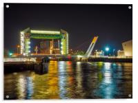 Tidel Barrier -River Hull, Acrylic Print