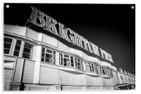 Brighton Signage, Acrylic Print