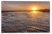 Rippled Sunset, Acrylic Print