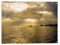 Storm Clouds Over Tonle Sap Lake, Acrylic Print