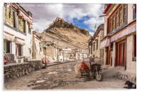 Gyantse Sidestreet, Tibet, Acrylic Print