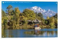 Black Dragon Lake, Lijiang, China, Acrylic Print