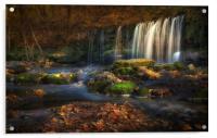 Sgwd Ddwli Uchaf waterfalls South Wales, Acrylic Print