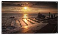 Lifeboat launch at Aberavon, Acrylic Print