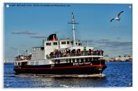 Royal Daffodil arriving at Seacombe Ferry, Acrylic Print