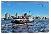 Royal Daffodil departing Seacombe for Liverpool, Acrylic Print