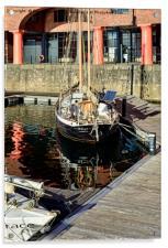 Quiet corner of the Albert Dock Marina, Acrylic Print