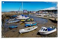 Aberaeron Harbour, Tide out!, Acrylic Print