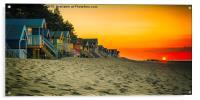 Sunset at Wells-next-the-Sea , Acrylic Print