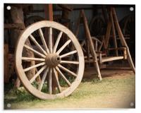 Old Wooden Wheel, Acrylic Print