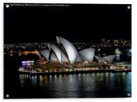 Sydney Opera House by Night, Acrylic Print