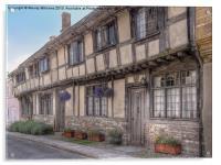 Cerne Abbas Cottages, Acrylic Print