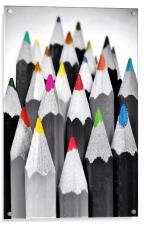Coloured Pencils, Acrylic Print